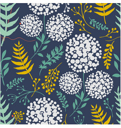 botanicals pattern with plants herbs image vector image