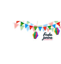 Brazilian festival festa junina banner design vector