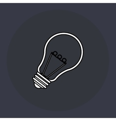 bulb designblue background Colorful vector image