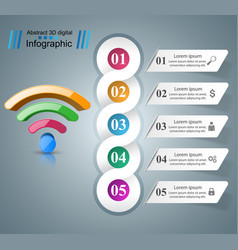 Business infographics wi-fi icon vector