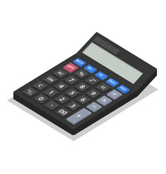 calculator icon set isometric style vector image