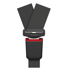 Car seat belt for safety in case of accident vector