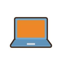 Cartoon laptop device gadget technology vector