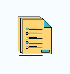 Check filing list listing registration flat icon vector