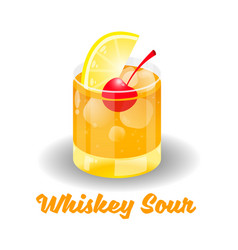 cocktail whiskey sour vector image