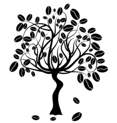 Coffee tree vector vector
