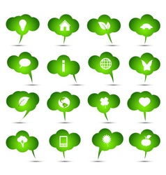 collection of ecological bubbles vector image