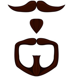 colorful cartoon goatee set vector image