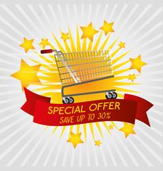 commercial labels design vector image