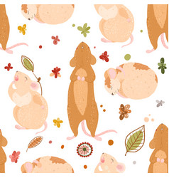 cute mouse pattern vector image