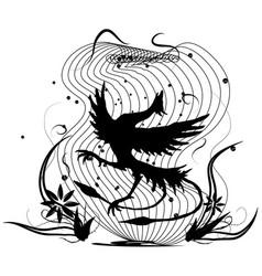 Dancing bird vector