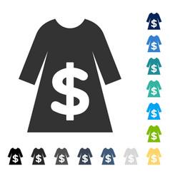 Dress sale icon vector