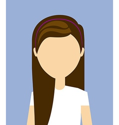 fashion person design vector image