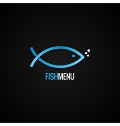 Fish Logo Design Dorado Background vector