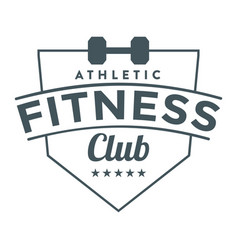 Fitness club image vector