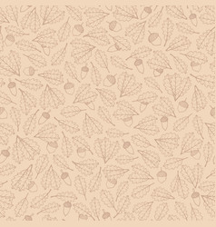 hand drawn pattern with autumn oak maple leaves vector image