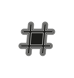 hashtag icon simple element vector image
