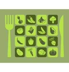 Healthy Food Icon Set vector image