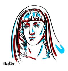hestia portrait vector image