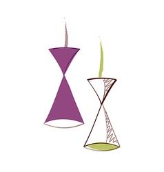 icon lamp vector image