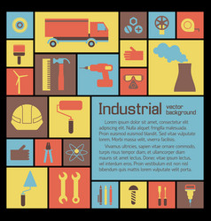 Industrial icons set vector