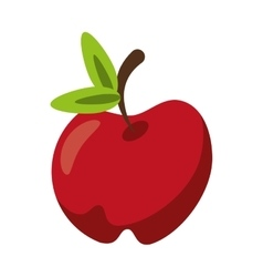 Isolated apple fruit design vector