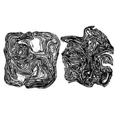 line art stone texture vector image