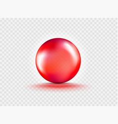 Liquid gel red round bubble capsule isolated vector