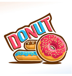 logo for donut vector image