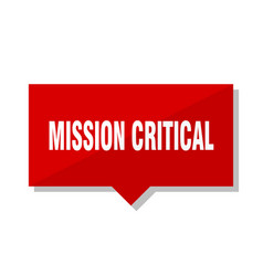 Mission critical red tag vector