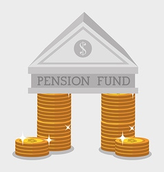 Money pension fund vector