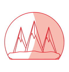 Mountains peaks landscape vector