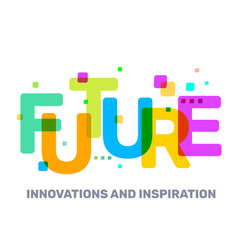 multicolor future business word lettering vector image