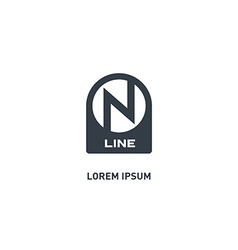 On Line - logo design template icon or des vector image