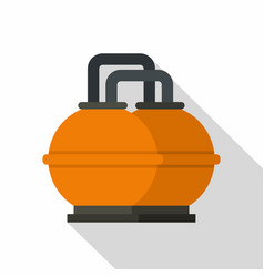 Orange fuel storage tank icon flat style vector