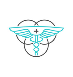 outline logo design circle health symbol vector image