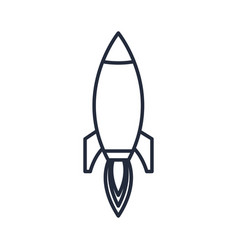 outlined rocket startup business success icon vector image
