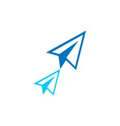 paper plan concept logo icon vector image
