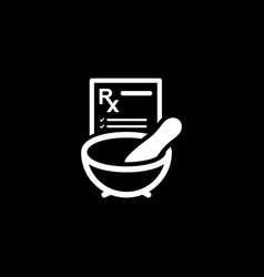 Pharmacy medicine icon flat design vector