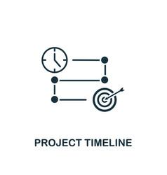 project timeline icon creative element design vector image