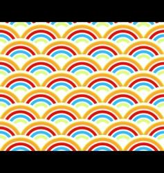 rainbows seamless pattern vector image