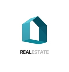 Real estate logo 3d abstract geometric vector image