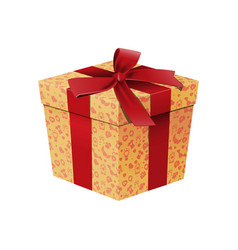 realistic cartoon gift box temlate vector image