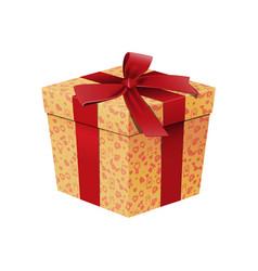 realistic cartoon gift box template vector image