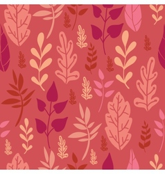 Red Leaves Seamless Pattern Background vector image