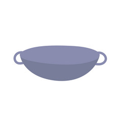 Saucepan handles utensil cooking isolated icon vector