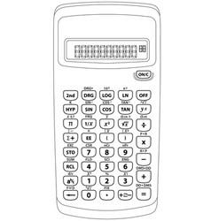 Scientific calculator vector