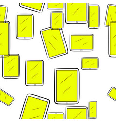 Seamless of handphone or mobilephone pattern vector