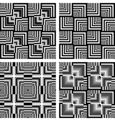 seamless op art patterns vector image