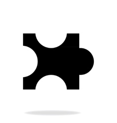 Separate part of the puzzle vector image
